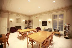 Curtis Institute of Music library reading room.